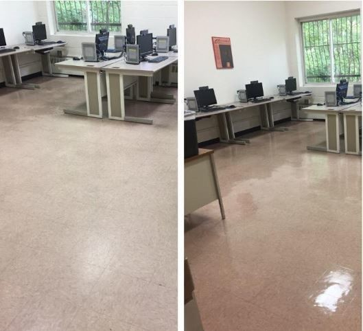 Before & After Floor Stripping and Waxing in Hamden, CT (1)